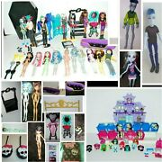 Huge Huge Lot Of Monster High Girls And Boys Dolls Accessories Minis 1st Wave