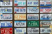 License Plate Lot - 100 Plates, Bulk, Mixed States, Craft Or Collect