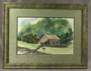 Original Signed Art Watercolor Painting Judy Pospichal General Store Antiques
