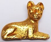 Vintage Metropolitan Museum Of Art Mma Egyptian Style Gold Tone Cat Pin Brooch