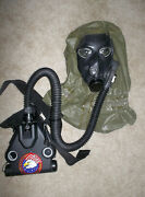 Rare Us M48 Apache Helicopter Aircraft Cbrn Gas Mask Nbc Respirator W/ Blower