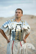 """Medieval Steel Polish """"cassius"""" Roman Knight Front Breastplate W/backpack"""