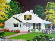 Single Family Home Vintage Wwii Era Real Estate Architecture Graphic Advertising