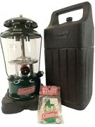 Coleman Model 288 Lantern And Black Case Double Mantle 8-95 Nice Clean New Mantles