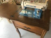 Morse Sewing Machine   Super Dial   Model 110 Volts   Built-in To Foldable Desk
