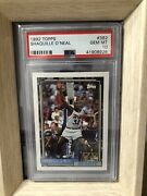 1992 Topps Shaquille O'neal Rookie Card Psa 10 Mint 362 Basketball Card