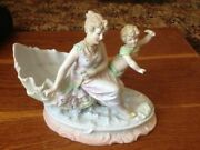 Beautifull Small Antique Porcelain Figurine Early 20th Century Germany Hand Made