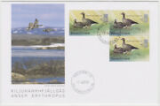 Finland Fdc 2001 Atm Frama Lesser White-fronted Goose Mint