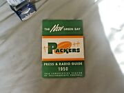 1950 Green Bay Packers Media Guide Yearbook Tobin Rote Press Book Program Nfl Ad