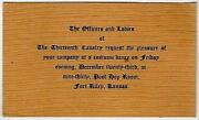 Fort Riley Kansas 13th Cavalry Military Costume Christmas Dance Party Invitation