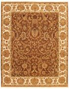 Hand-knotted 8and0391 X 10and0394 Passions Bordered Floral Traditional Wool Rug