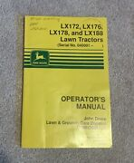 John Deere Lx 172 176 178 And Lx188 Lawn Tractor Owner Operator Manual Omm120367