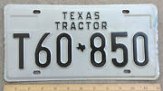 1979 Tx Texas Tractor License Plate T60-850 Excellent Used Condition
