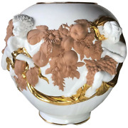 Hollywood Randeacutegence Style Trandegraves Grand Large Porcelaine And Terre Cuite Cherub Sol