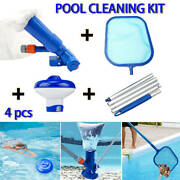 4pcs Pool Cleaning Kit For Above Ground Pools Vacuum Head Pool Skimmer Net