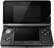 Nintendo 3ds Cosmo Black Video Game Console With Stylus Sd Card And Charger