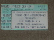 Santana Starfest And State Fair Bandshell Tickets Used