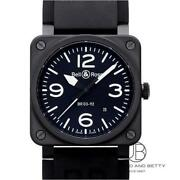 Bell And Ross Br 03-92- S Aviation Type / Military Spec Wristwatch From Japan J6