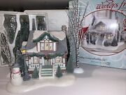 Dept 56 Winters Frost Cottagewood Christmas Bungalow Village House + Trees Rare