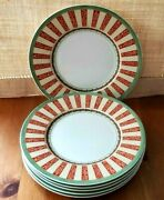 Set Of 6 Villeroy And Boch Festive Memories Salad Plates Christmas Discontinued