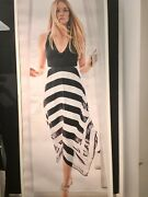Inc International Concepts Xl Halter Style Dress Black And White Side Zipper