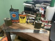 Vintage Collection Handy Oiler Gun Oil Cans Lead Top Lot Of 8 Permatex Outers