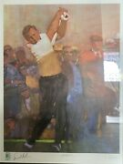 Bernie Fuchs World Golf Hall Of Fame Print Arnold Palmer Both Signed And Numbered