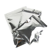 Heat Seal Silver Aluminum Foil Food Storage Bags Smell Proof Mylar Pouches