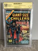 Giant-size Chillers 1 Cbcs 5.0 1st. Appearance Of Lillith Signed By Gene Colan