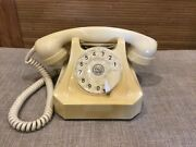 Antique 60andrsquos Phone Rotary Desk Fetap 611 Siemens Bakelite Ivory Made In Germany
