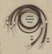 Plaited Vinyl Stampede String Chin Strap-cotter Pin-western Hat-silver Beads