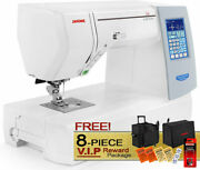 Janome Memory Craft Horizon 8200 Qcp Computerized Sewing Machine W/ Vip Package