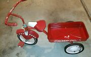Vintage Radio Flyer / Garton Fire Chief Tricycle Delivery Wagon - Not The Toy