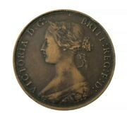 1864 Canadian Victoria One Cent Bronze Coin New Brunswick 5.6 Grams