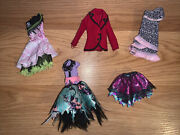 Monster High Doll Clothes Lot Spectra, Clawdia, Kjersti, Rochelle And Honey Swamp