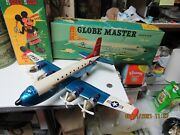 Globe Master Usaf Troop Carrier Airplane In Box Friction 50's Bully Beef Express