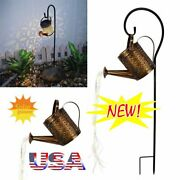 Solar Led Watering Can String Light Outdoor Garden Art Waterfall Lamp Decor Wp