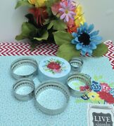 Pioneer Woman 6pcs Biscuit Cutter Set. New