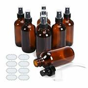 Small Amber Glass Bottles With Scale Ulg Empty Boston Round 4 Oz Spray Bottles