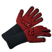 Bbq Gloves Heat Resistant Barbecue Grill Oven Mitts Silicone Insulated Baking
