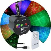 Akepo Party Lights Rgb3 Lens Laser Light Sound Activated 36 Patterns Project...