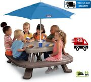 Little Tikes Fold And039n Store Picnic Table With Market Umbrella
