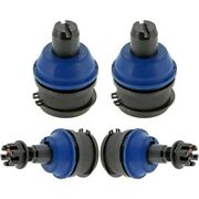 Set-memk8611t-f Mevotech Ball Joints Set Of 4 Front Driver And Passenger Side New