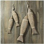 Wooden Fish Decor Hanging Wood Fish Decorations For Wall Rustic Nautical Fish