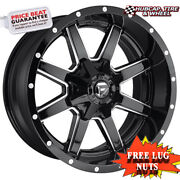 Fuel Off-road D610 Size 22x10 8x180 Offset 10mm Gloss Black Milled Set Of 4