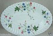 Limoges Haviland Florence Oval Serving Tray Pinkblue Hibiscus Flowerswirl