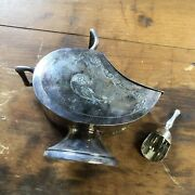 Vintage Silver Plate Sugar Scuttle With Silver Scoop Sheffield England