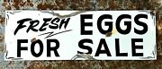 Vintage Old Painted Primitive Metal Fresh Eggs For Sale Barn Stable Farm Sign
