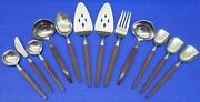 12 - Ekco Eterna Canoe Muffin Faux Wood Stainless Japan Hostess / Serving Pieces
