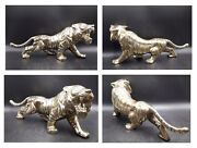 """Stunning Vintage Imperial Brass Tiger 15"""" Long Doorstop,paperweight."""